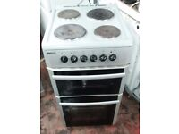 Beko D533 ELECTRIC COOKER, Double oven Electric Cooker in silver colour