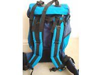 Large blue rucksack suitable for backpack travellers