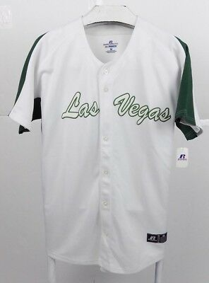 Power-baseball-jersey (Las Vegas Russell Athletic Mens Green White Dri Power Baseball Jersey Sz Medium)