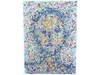 VERY LARGE ABSTRACT MODERN ART NEW IMPRESSIONIST PORTRAIT PAINTING ON LOOSE CANVAS | Free Delivery
