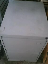 2 layer filing cabinet in good condition.