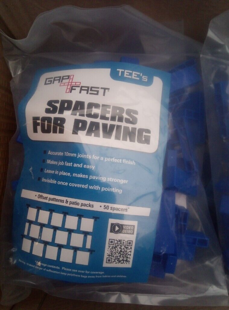 GAPFAST PAVING SPACERS for Patio Slabs /& Flags 10mm Tees x 50