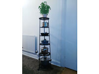 6 Teir cast iron pot stand