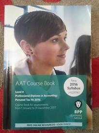 Aat book level 4 bpp personal tax new accounting accounts course