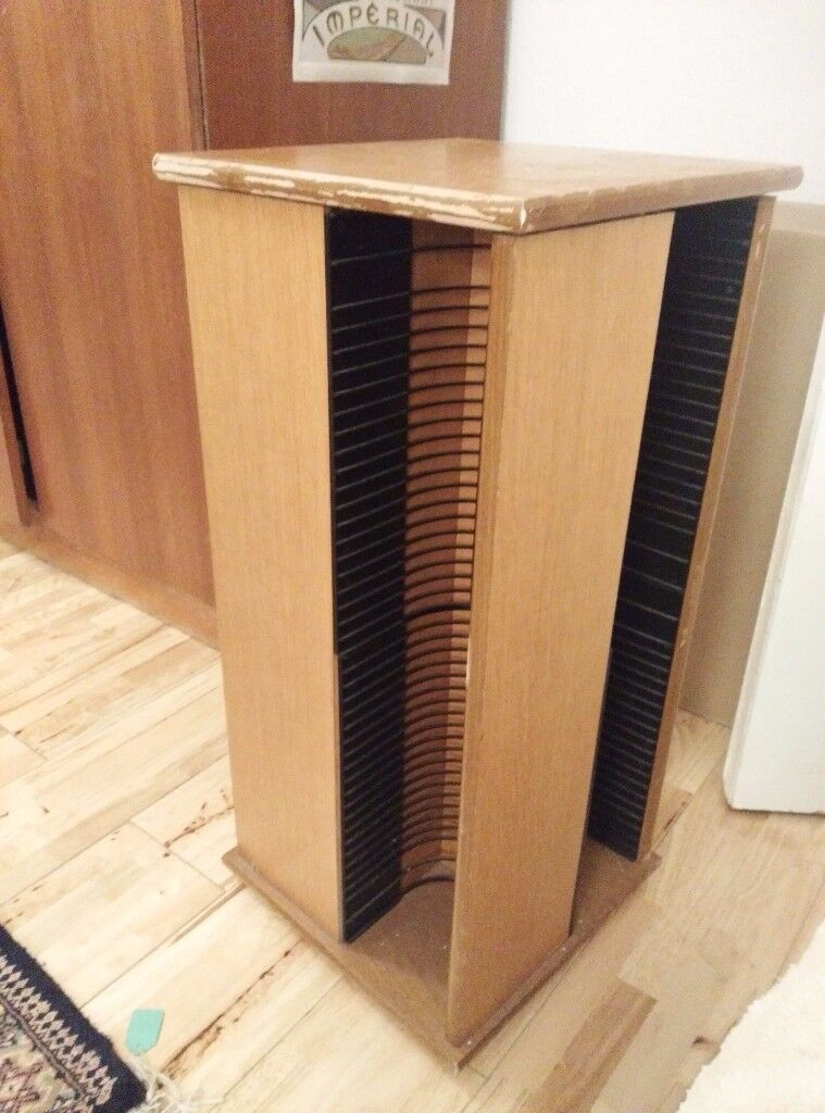 Rotatable Pine CD rack