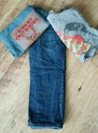 Boys fleece lined jeans & jumpers size 3 years