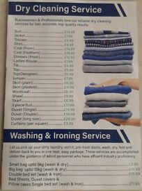 Free Pick and Drop Dry Cleaning, Launderette & Ironing Service