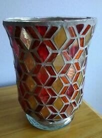 mosaic tile vase candle holder