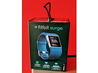 Fitbit surge fitness watch small in blue