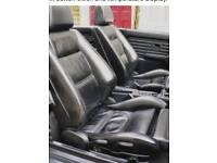 Bmw e30 recaro sport black leather seats pair reclining convertible coupe