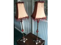 Vintage Tall Victorian Style Table Lamps