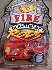 Hot Wheels Cars Fire Department Rods El Camino very rare. Sealed and unused. HotWheels