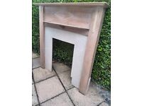 Solid Limed Oak fire surround with insert