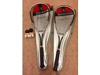 Set of 2 Browning Squash Racquets with balls