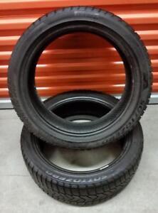 (H259) 2 Pneus dHiver - 2 Winter Tires 205-45-17 Pirelli RunFlat