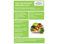 Call for Participants! Individuals aged 18-50 to complete fruit and veg survey