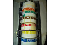 Day Dot Food Label Dispenser + 7 Rolls of almost 1000 25mm Labels/Catering Stickers