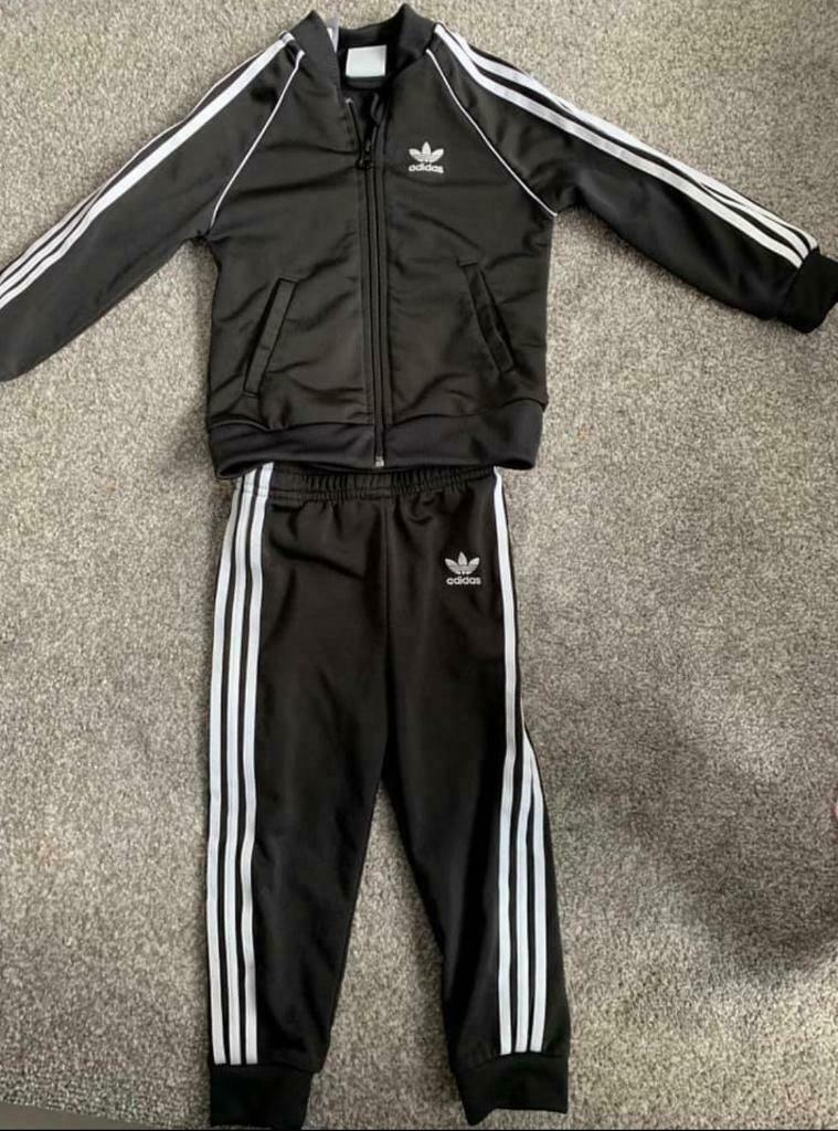 ded23a0b Boys Adidas black and white tracksuit age 18-24 | in Cramlington ...