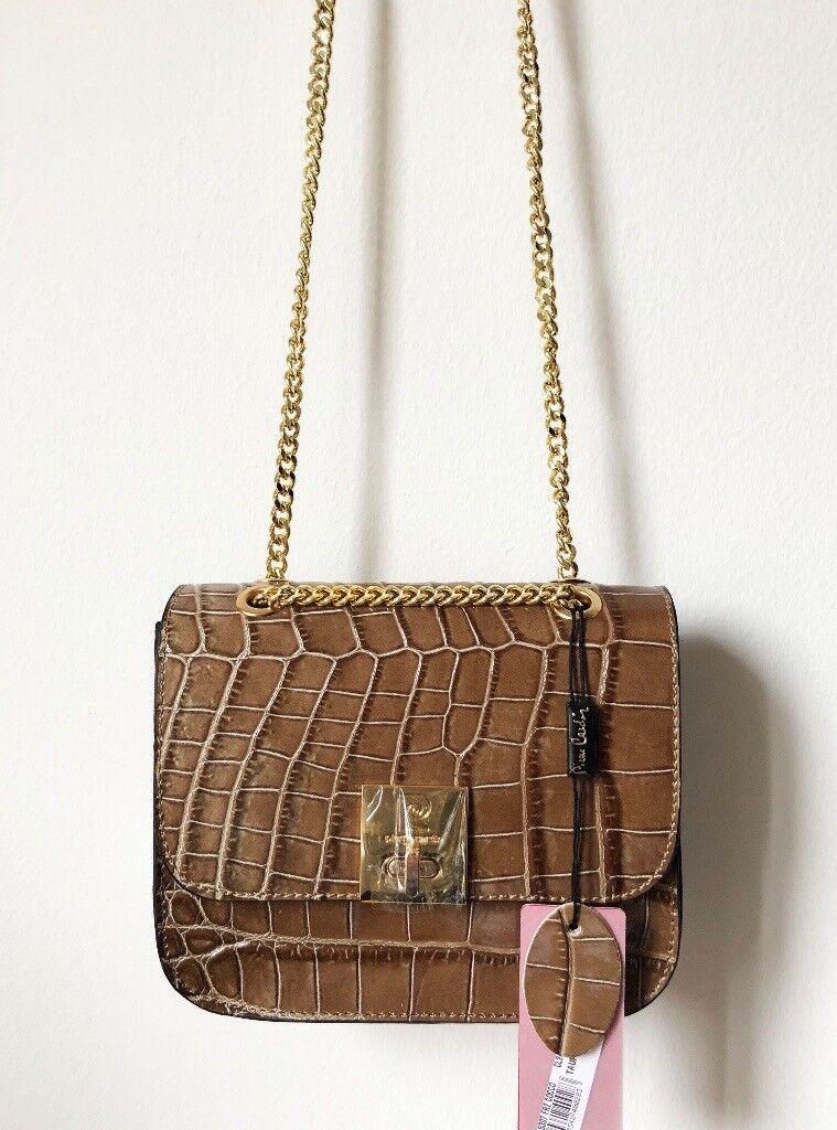 Pierre Cardin Leather Croc Crossbody Bag