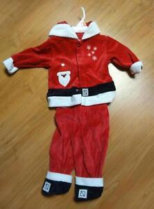 Baby boy's 2 piece Santa outfit