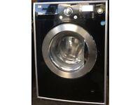 LG Direct Drive 8kg black washing machine £150 good condition
