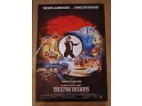 Original 'The Living Daylights' (007 James Bond) Film Poster