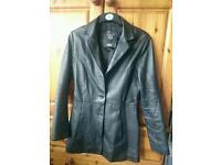 Soft leather dress jacket size small