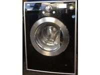 LG Direct Drive 8kg black washing machine £170 good condition
