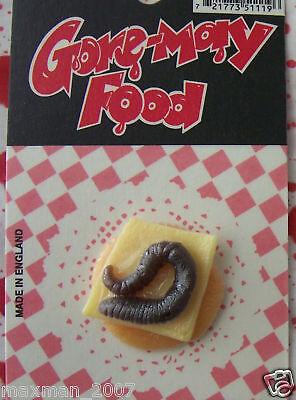 Gorey Gory Worm Cracker Halloween Prop Decoration Part Gross Gag Joke NIP