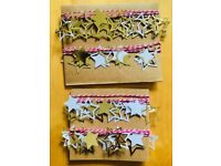 Gold, white and pink star bunting, 2 or 4 strands