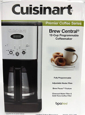 Cuisinart DCC-1200 Brew Central 12-Cup Programmable Coffeemaker Brushed Metal