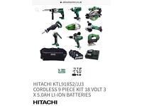 Hitachi power tools 18v with extras