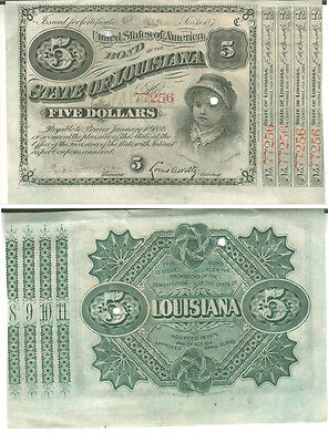 1880 STATE OF LOUISIANA  BOND