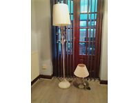 Floor lamp and matching table lamp