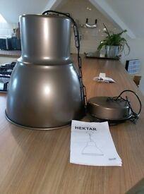 Ikea hektar pendant lamp shade 38cm bronze colour