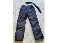 Ladies Size 12 Black Ski Trousers - £15