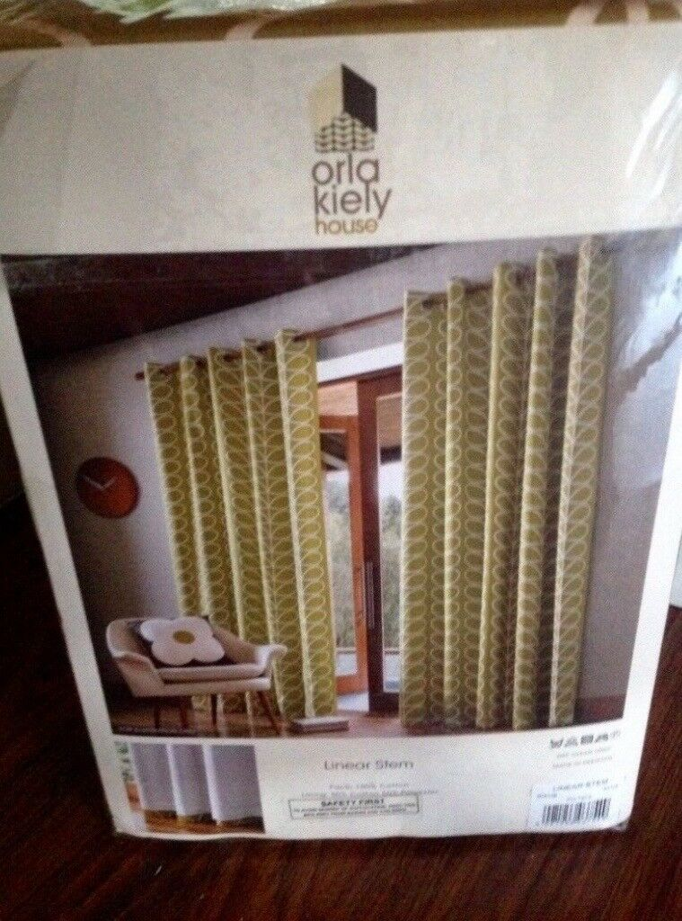Orla Kiely Curtains Olive Fully Lined New In Glasgow