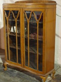 WOODEN DRESSER CABINET GLASS FRONTED