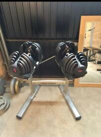 Bowflex Dumbells 4-40kg with York 13in1 Bench