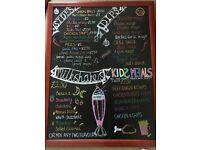 Chalkboard Artist - Blackboard Designer - Signwriter - Sign writer - Art - Murals -Designer-Weddings
