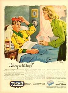 1947 large full-page color magazine ad for Rexall Drugs