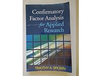 Confirmatory Factor Analysis for Applied Research (Methodology in the Social Sciences) (2006)