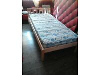 Pine single with mattress