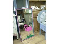 Fun flamingo mirror