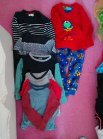 Age 3-4 years, 3 tops, 2 jumpers and 1 pair of fleece pyjamas