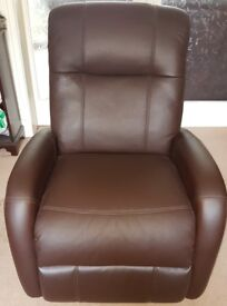 Relax Eeze Leather reclining chair - as new