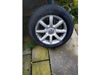 15in vw alloy wheels