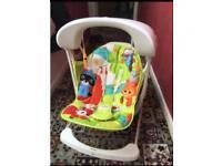 Baby swing/bouncer rainforest