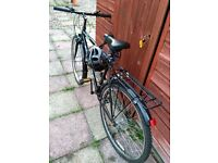 Good bike with mudguards, pannier rack and a Helmet at cheap price