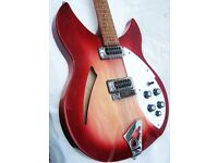Rickenbacker 330 12 String in Fireglow. Beautiful Condition. May Part Ex
